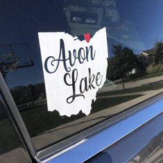 Decal - Avon Lake State with Heart