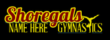 Shoregals Gymnastics- Car Decals (read description below)