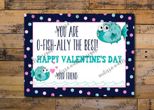 Load image into Gallery viewer, You are o-fish-ally the best! Valentine