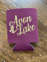 In Stock! Avon Lake Script Can Coolers/Koozies
