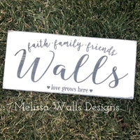 Faith-Family-Friends Wood Sign
