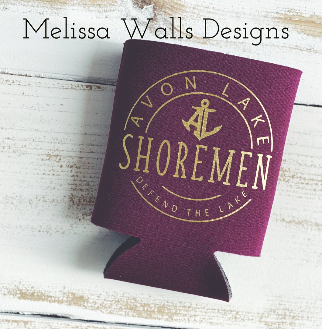 In Stock! Shoremen Circle Can Coolers/Koozies