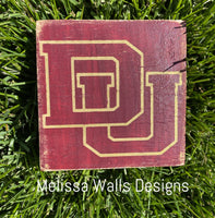 "3.5"" x 3.5"" College/School/Custom Order Mini Blocks"