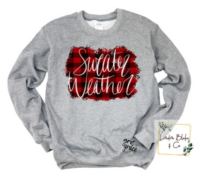 Sweater Weather Red Black Buffalo