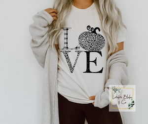 Love Black White Pumpkin