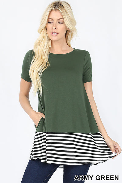Army Green Stripe