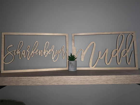 Name Sign Decor