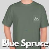 """Take a Step outside"" Comfort Colors Short Sleeve T-shirt with front pocket."