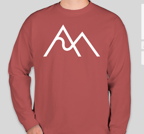 """Journey More"" Comfort Colors Long Sleeve T-shirt. No front pocket."
