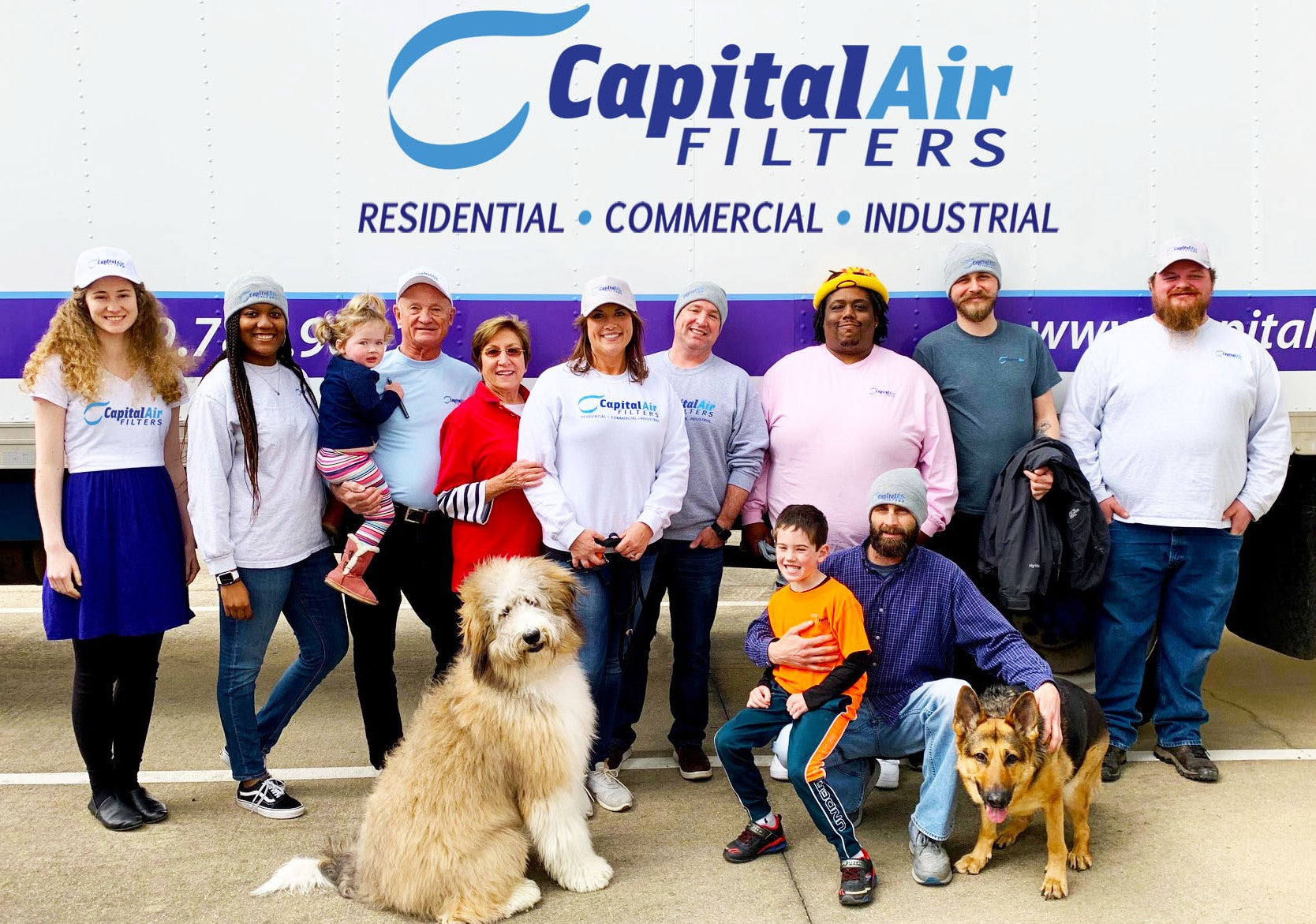 Capital Air Filters Staff and Truck