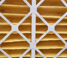 Load image into Gallery viewer, air entering side yellow pleated MERV 11 air filter AFP2000