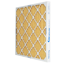 Load image into Gallery viewer, MERV 11 yellow pleated air filter residential commercial afp2000