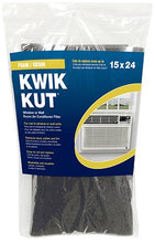 "Load image into Gallery viewer, Kwik Kut KK500 15""x24""x1/4"" Foam Air Conditioner Filter for Window Or Wall Air Conditioning unit"