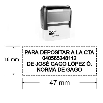 sello automatico printer 30