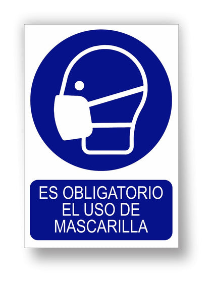 Uso obligatorio de mascarillas
