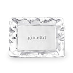 Beatriz Ball Rectangular Engraved Tray - Grateful