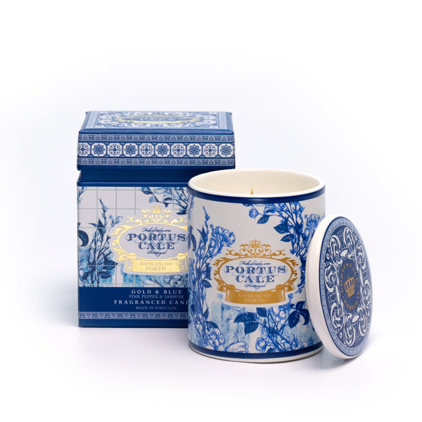 Gold & Blue Portus Cale Candle