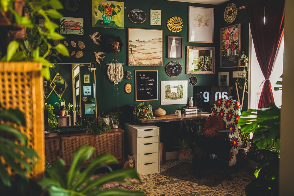Bohemian Jungle Office Inspiration