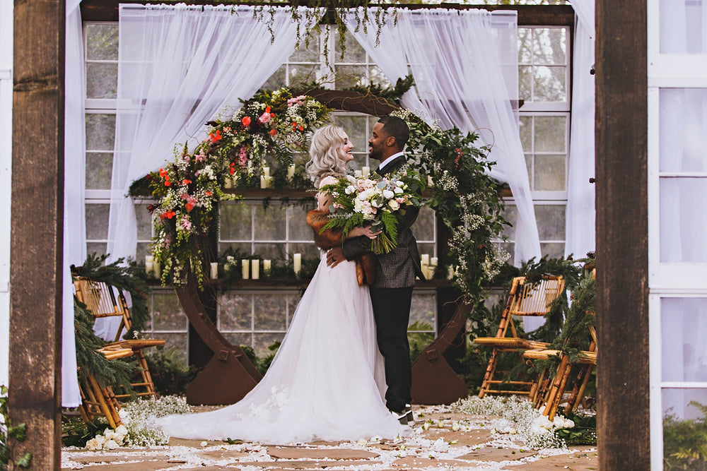 Winter Greenhouse Wedding in Virginia