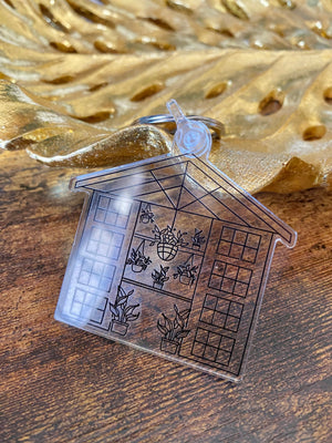 Large Greenhouse Outline Acrylic Keychain