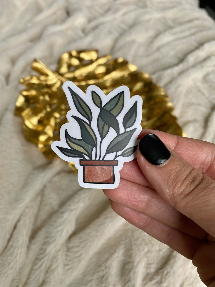 Potted Plant Vinyl Sticker