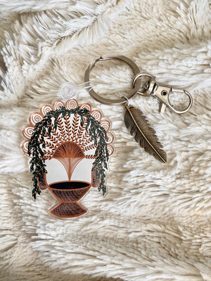 Load image into Gallery viewer, Boho Peacock Chair Acrylic Keychain