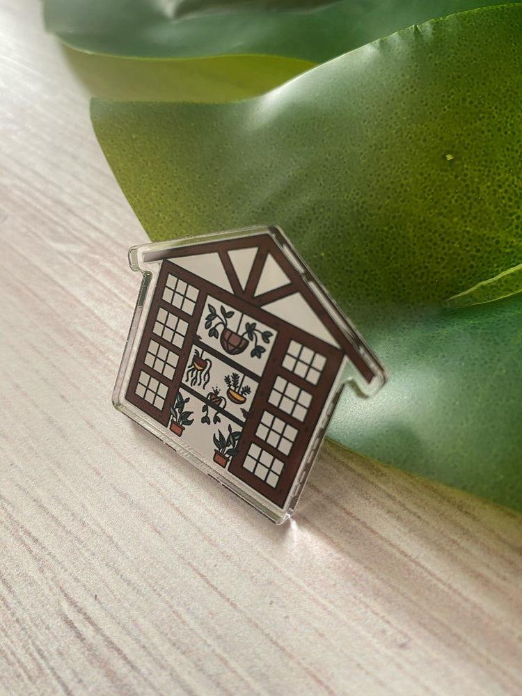 Greenhouse Acrylic Pin