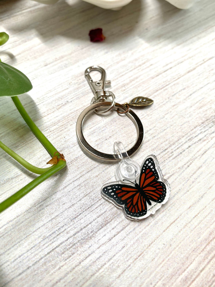 Load image into Gallery viewer, Monarch Butterfly Acrylic Keychain