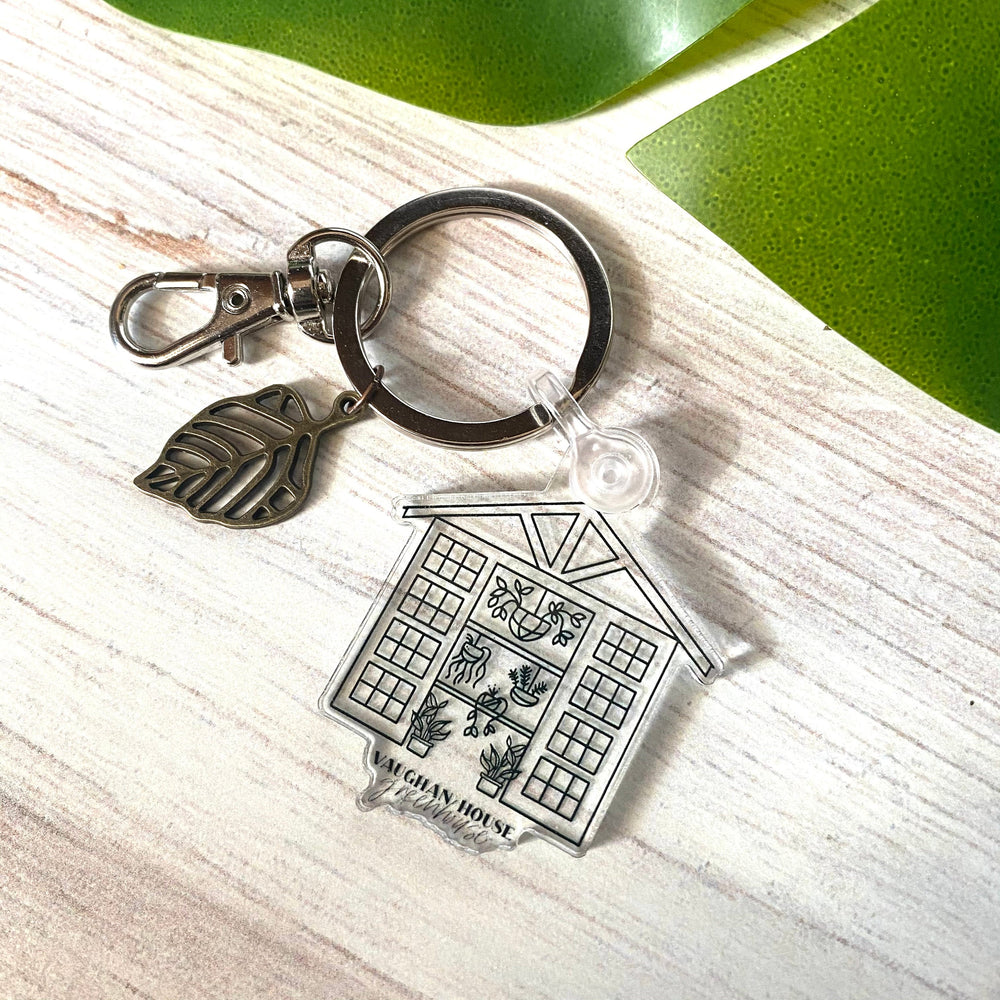 Greenhouse Outline Acrylic Keychain