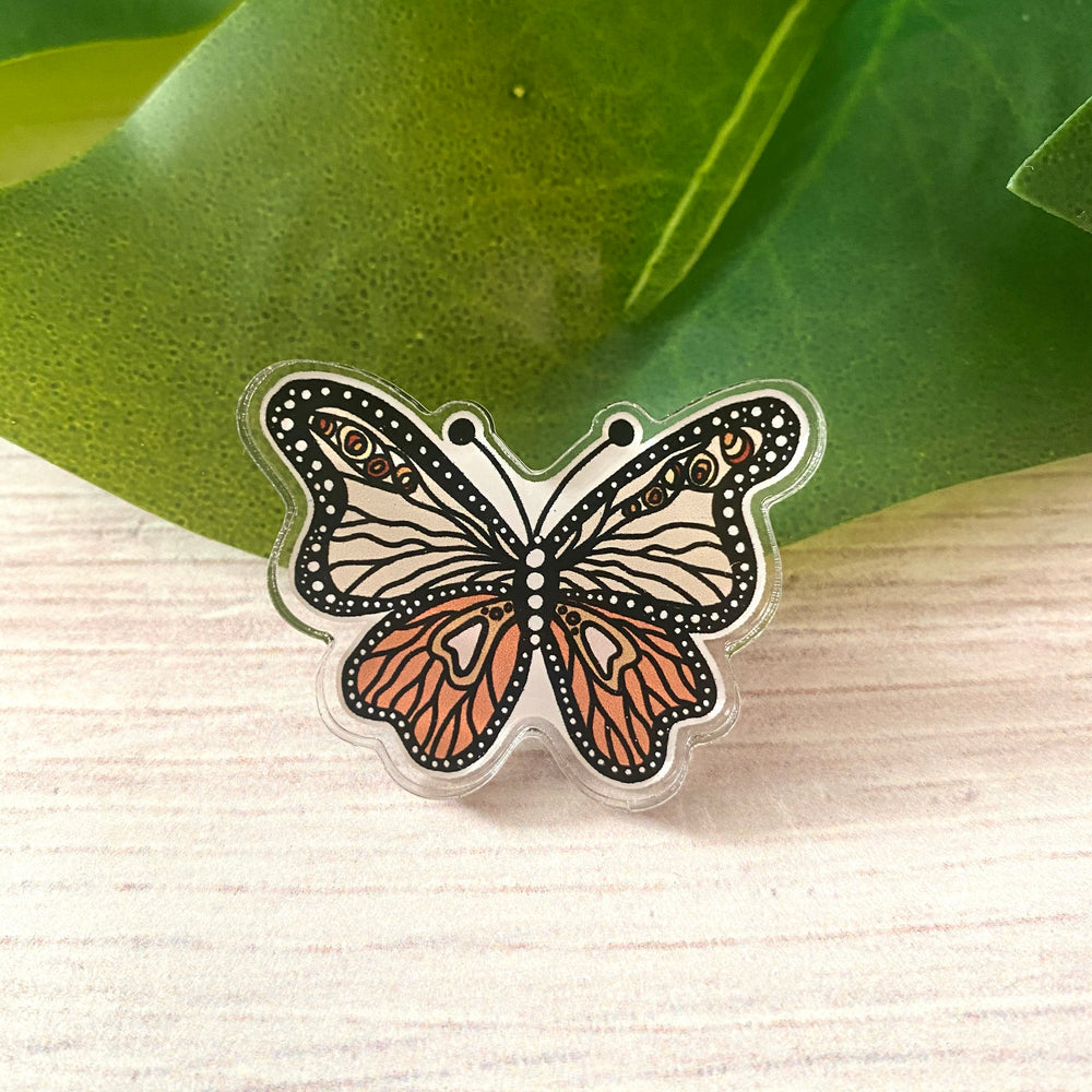 Whimsical Butterfly Acrylic Pin