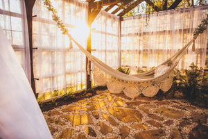 Load image into Gallery viewer, Greenhouse Boho Cocoon Hammock