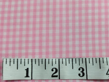 Load image into Gallery viewer, Gingham Pink 1/8 1/2yd Cuts