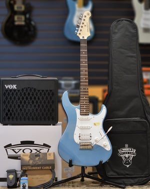 Harry's Guitar Shop Ultimate Beginner's Electric Guitar Pack - Lake Blue