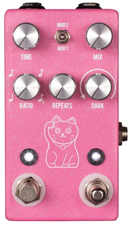 JHS Lucky Cat Tape-Style Delay - Pink