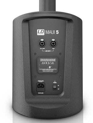 LD Systems MAUI 5 Ultra Portable Column PA System with Mixer and Bluetooth