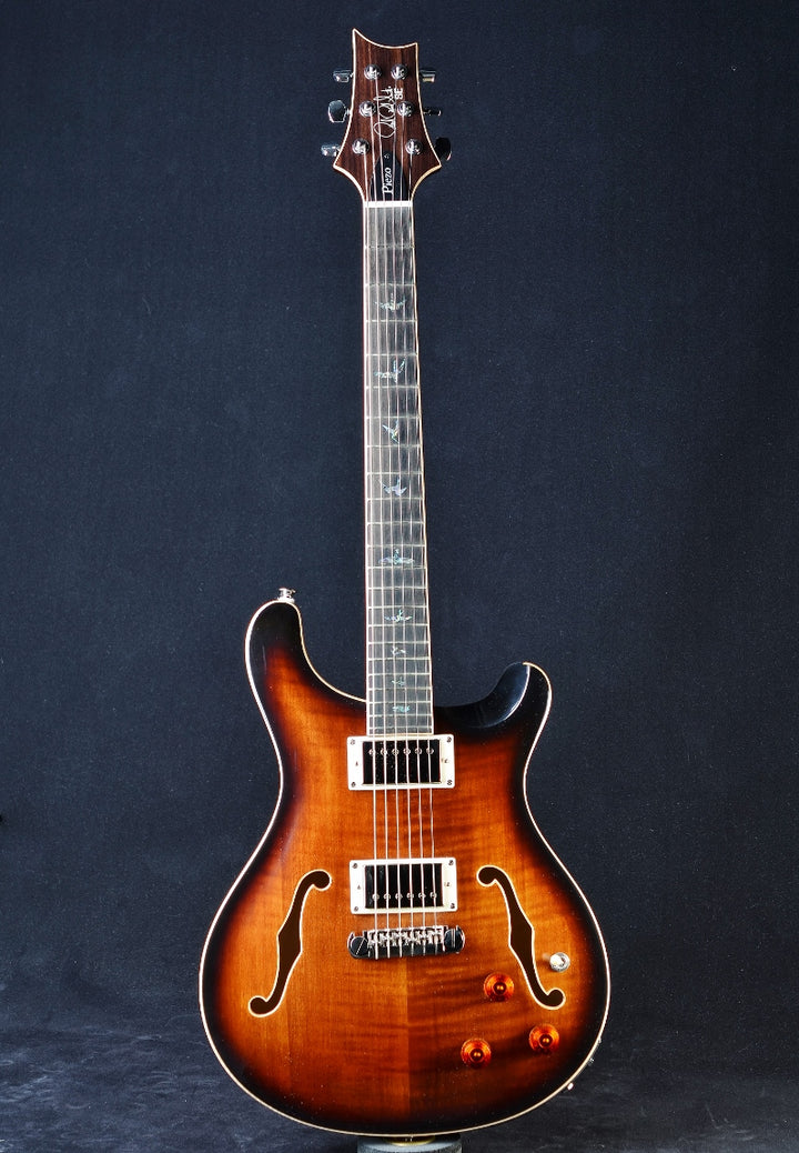 PRS SE Hollowbody II Piezo - Black Gold Burst
