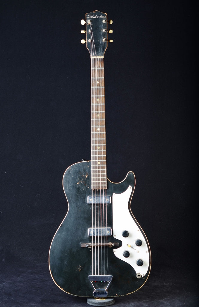 Late 50's/Early 60's Silvertone Mars Stratotone Model 1420 Black - Used