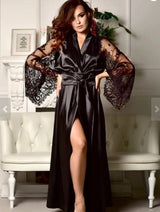 Long Sleeve Deep V Robe