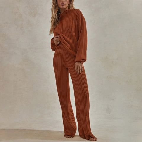 Women Knitted Lounge Wear Set