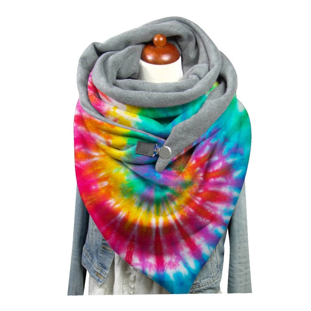 Print Button Soft Scarf
