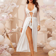 White Lace Robe Set