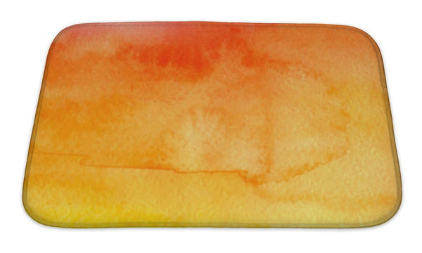 Bath Mat, Red And Yellow Watercolor