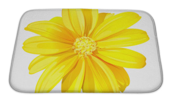 Bath Mat, Beautiful Yellow Flower
