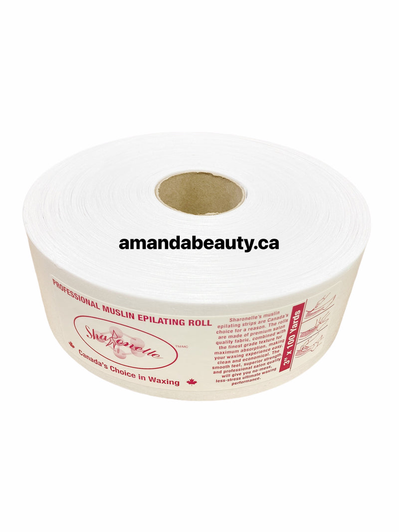 Professional Spa Quality - 100% Cotton Roll - Waxing Strips For Hair Removal 100 Yards x 3.0Inch