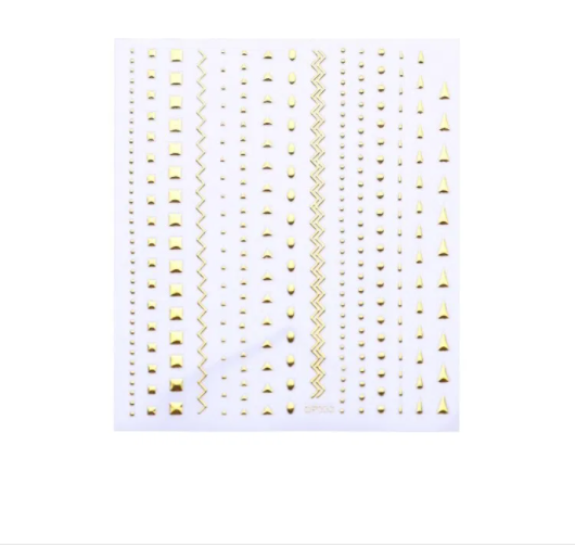3D Nail Stickers Geometric Gold Silver Nail Art Sticker Metal Strip Tape Lines Adhesive DIY Transfer Stickers Nail Decoration