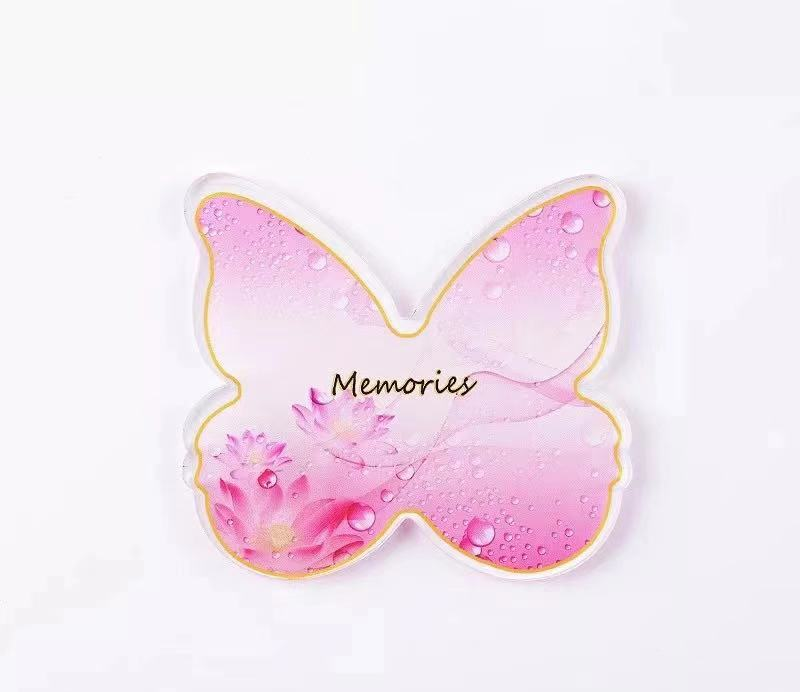 Acrylic Marble Starry Sky Pattern Palette Butterfly Shape Nail Gel Polish Color Painting Shelf Nail Art Display Stand