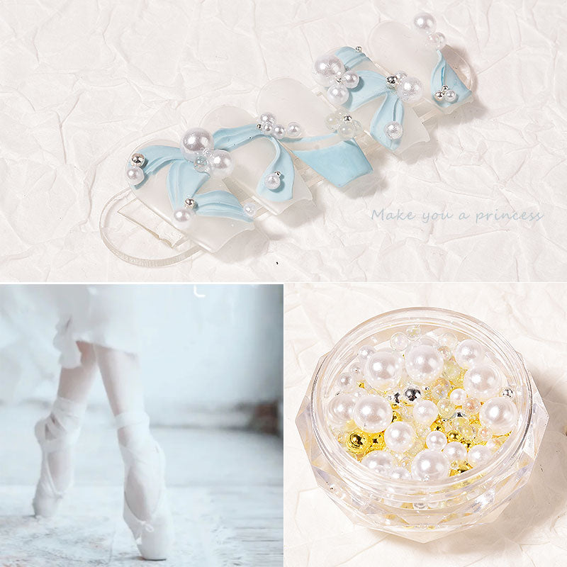 【BUY 1 GET 1 FREE!】3D Ballet Ribbon Carving UV Gel Decors Nail silicone Mold