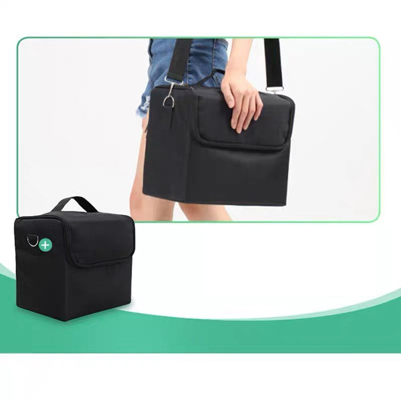 【 Black】Nail Tools Storage Pack Makeup Organizer Cosmetic Bag Portable Travel Kit with Hanging Small Size