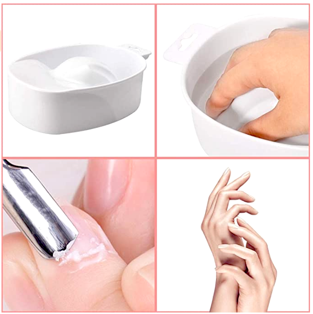 Dead-skin Soak Bowl Cleaning Software Care Bowl Manicure Hand Bubble Hand Bowl Manicure ( White )