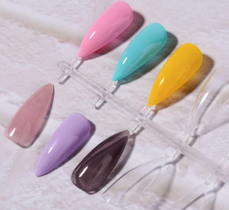 【 Buy 1 Get 1 Free 】480pcs Stiletto Almond Oval Pointy Nail Tips